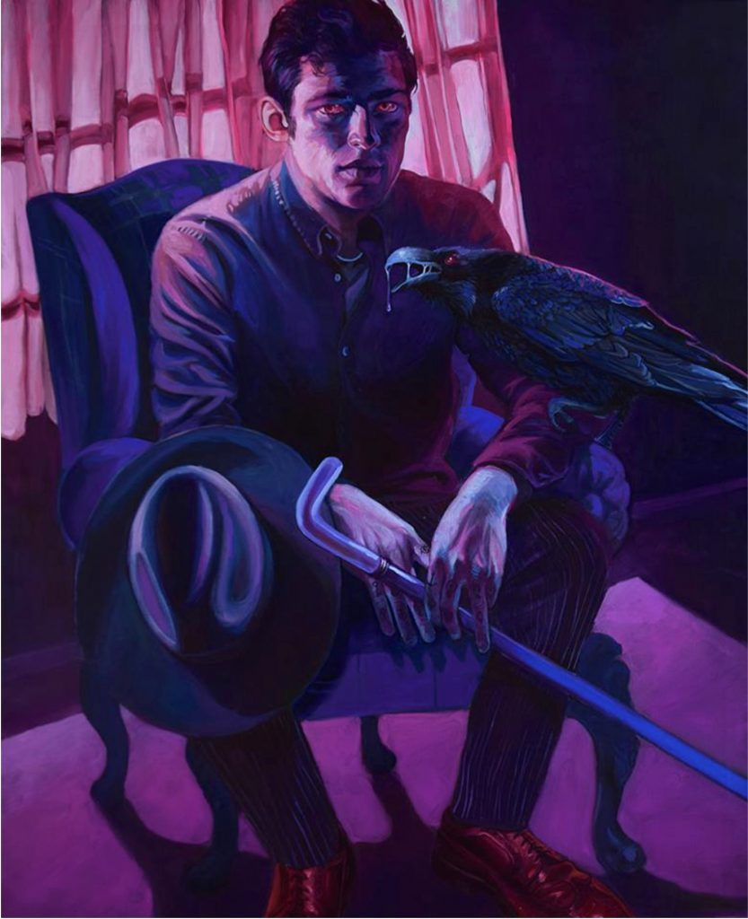 Natalia Rak - Purple prince, Painting - Pretty Portal
