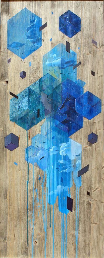 ETNIK - Floating blue elements - Pretty Portal