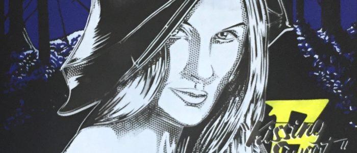 """STF MOSCATO """"KISS ME SWEET"""" Siebdruck und Stencil/Acryl Sprühlack auf schwarzem Papier - Pretty Portal"""