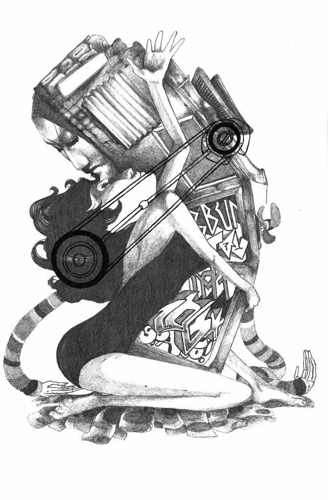 Claudio Ethos - Impetus - Screenprint on Somerset Velvet - 56x36cm - Pretty Portal