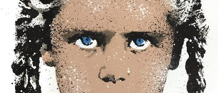 LET - Turnaround - detail04, Siebdruck, Stencil und Sprühlack auf Somerset Velvet, 76 × 56 cm - Pretty Portal