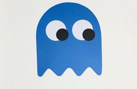 PDOT Geister blau Edition Kopie, Kunststoff-Folie auf Fabriano Papier, 70 × 50 cm - Pretty Portal