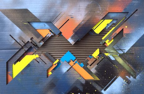"Marc C Woehr ""N 53.554396 E 9.962335"" Carboard Unikat - Pretty Portal"
