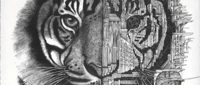 "ARDIF ""Tiger Mechanimal"" Siebdruck - Pretty Portal"