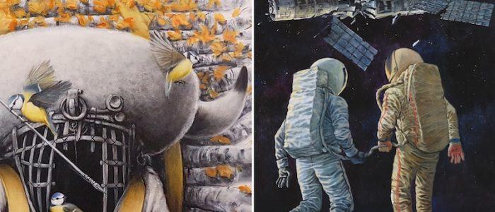 "Ruben Carrasco & Rustam QBic ""Backwards Future"" - Ausstellung"