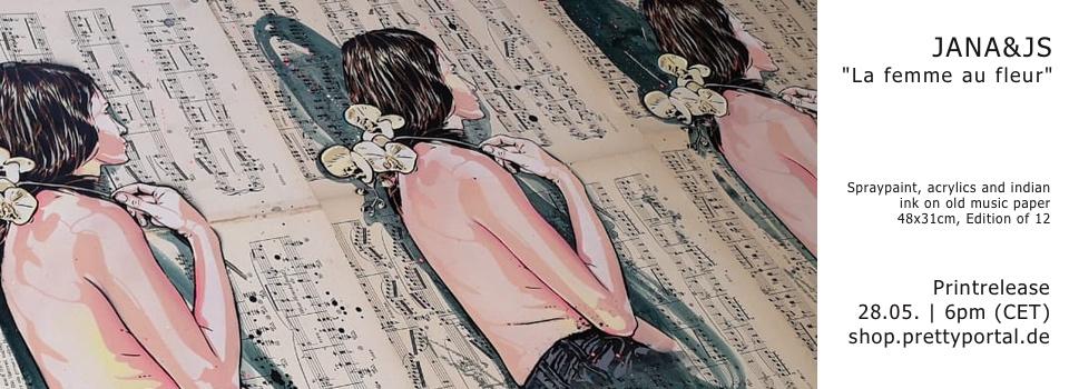 "Printlrelease JANA&JS ""Femme au fleur"" 28.5."