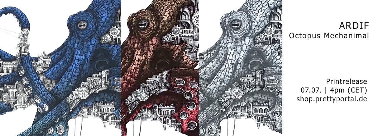 """ARDIF """"Octopus mechanimal"""" Print release 7.7.20"""