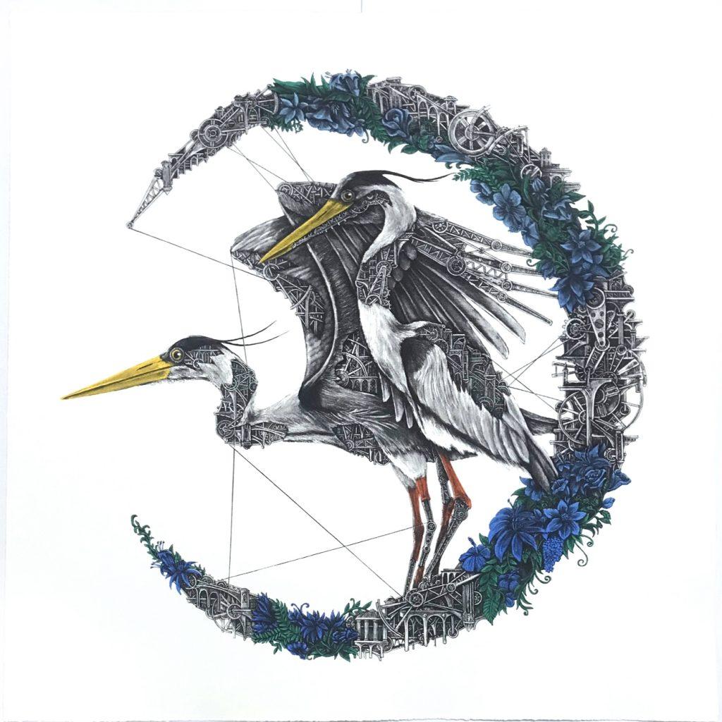 ARDIF Heron Mechanimal - blue moon