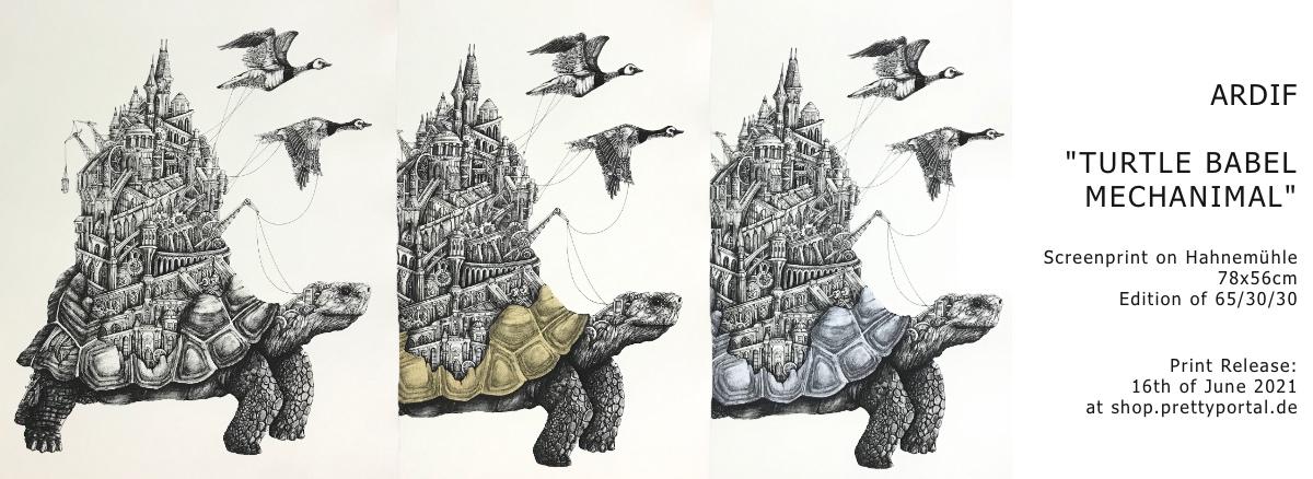 ARDIF Babel Turtle Mechanimal Screen print release June 16th